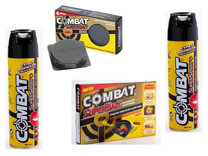 Руководство по применению средства Комбат (Combat) для уничтожения тараканов: состав, как действует, плюсы и минусы, меры предосторожности