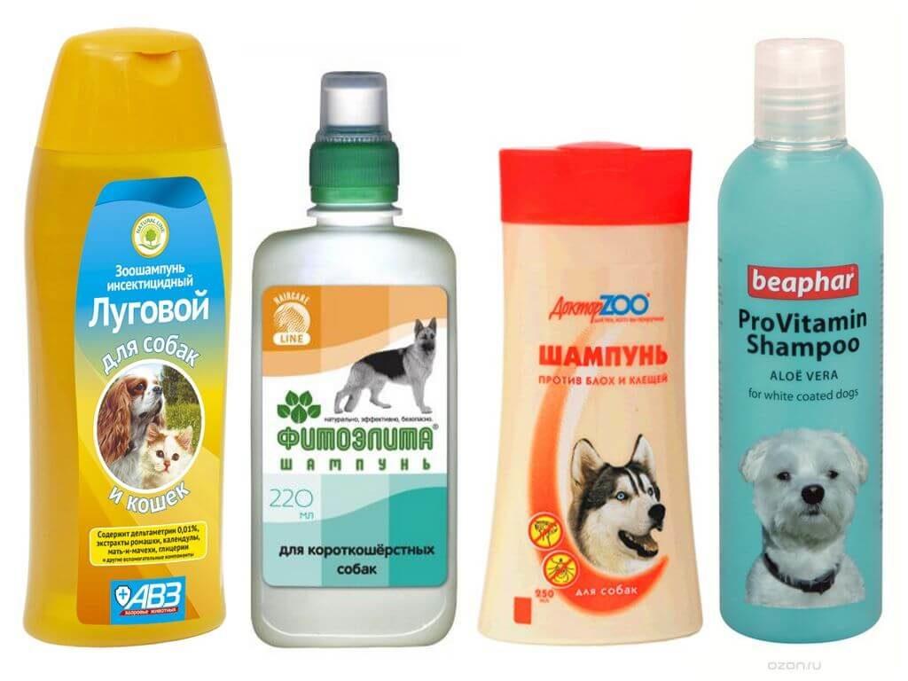 шампунь для собак от клещей и блох